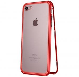Husa 360 Magnetic Case pentru iPhone 8, Red