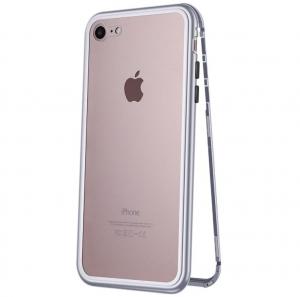 Husa 360 Magnetic Case pentru iPhone 8, Silver