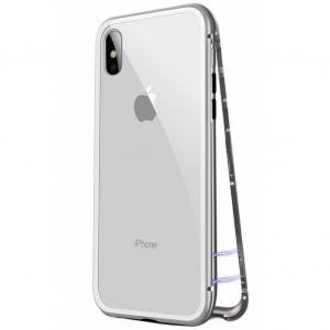 Husa 360 Magnetic Case pentru iPhone X, Silver