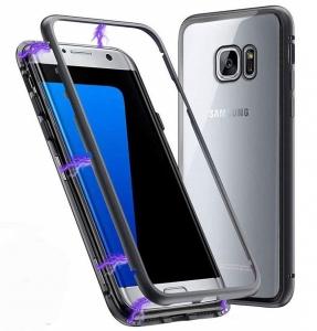 Husa 360 Magnetic Case pentru Samsung Galaxy S7 Edge, Negru