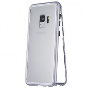 Husa 360 Magnetic Case pentru Samsung Galaxy S9 Plus, Silver