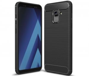 Husa Air Carbon Samsung Galaxy A8 (2018), Negru