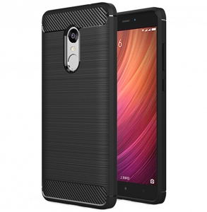 Husa Air Carbon Xiaomi Redmi Note 4, Negru