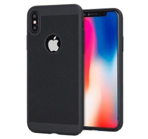 Husa Air cu perforatii iPhone X, Negru