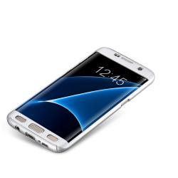 Husa Full Cover 360 (fata + spate) pentru Samsung Galaxy S7 Edge, Silver