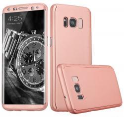 Husa Full Cover 360 (fata + spate) pentru Samsung Galaxy S8, Rose Gold