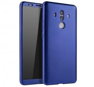 Husa Full Cover 360 + folie sticla Huawei Mate 10 Pro, Albastru
