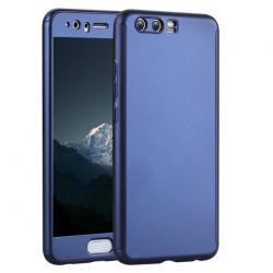 Husa Full Cover 360 + folie sticla Huawei P10, Albastru