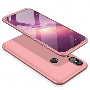 Husa Full Cover 360 + folie sticla Huawei P20 Lite, Rose Gold