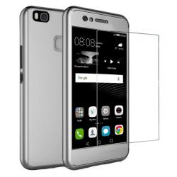 Husa Full Cover 360 + folie sticla Huawei P9 Lite, Silver