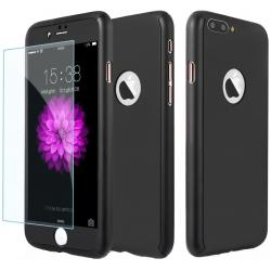 Husa Full Cover 360 + folie sticla iPhone 8 Plus, Negru