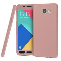 Husa Full Cover 360 + folie sticla Samsung Galaxy A3 (2016), Rose Gold