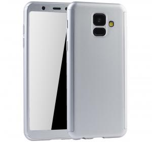 Husa Full Cover 360 + folie sticla Samsung Galaxy A6 (2018), Silver