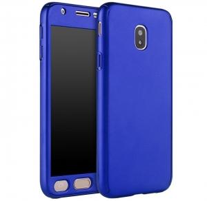 Husa Full Cover 360 + folie sticla Samsung Galaxy J5 (2017), Albastru