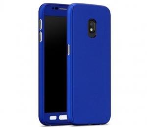 Husa Full Cover 360 + folie sticla Samsung Galaxy J7 (2017), Albastru