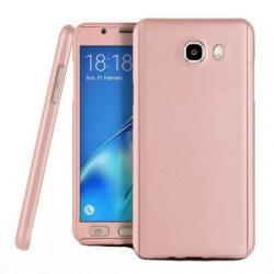 Husa Full Cover 360 + folie sticla Samsung Galaxy J7 Prime, Rose Gold