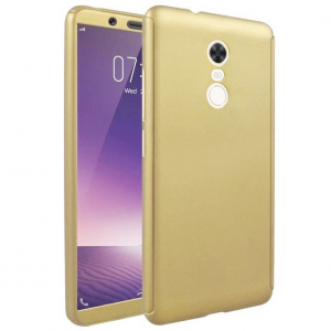 Husa Full Cover 360 + folie sticla Xiaomi Redmi 5, Gold