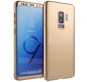 Husa Full Cover 360 pentru Samsung Galaxy S9, Gold