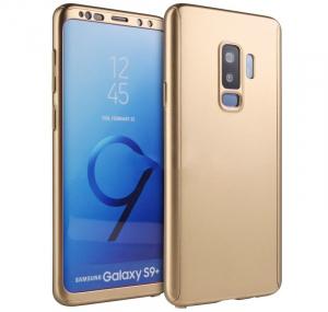 Husa Full Cover 360 pentru Samsung Galaxy S9 Plus, Gold