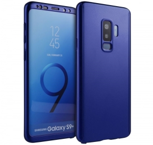 Husa Full Cover 360 Samsung Galaxy S9 Plus, Albastru