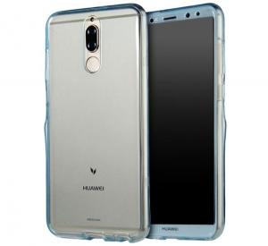 Husa Full TPU 360 fata spate Huawei Mate 10 Lite, Albastru Transparent