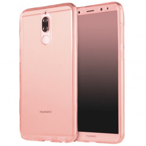 Husa Full TPU 360 fata + spate Huawei Mate 10 Lite, Rose Gold transparent
