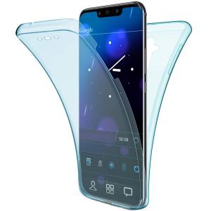 Husa Full TPU 360 fata + spate Huawei Mate 20 Lite, Albastru transparent