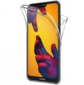 Husa Full TPU 360 fata + spate Huawei P20 Lite, Transparent