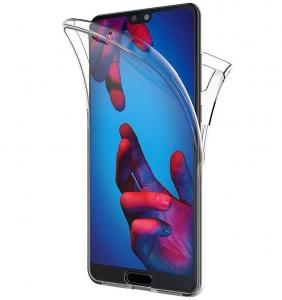 Husa Full TPU 360 fata + spate Huawei P20, Transparent