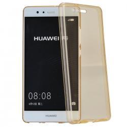 Husa Full TPU 360 (fata + spate) Huawei P9, Gold Transparent