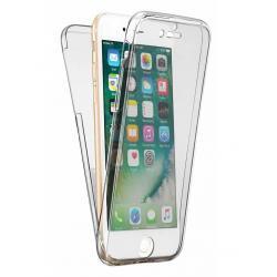 Husa Full TPU 360 (fata + spate) iPhone 8, Gri Transparent