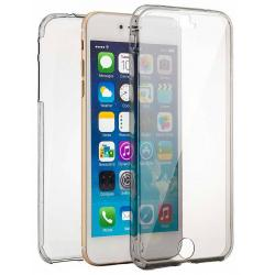 Husa Full TPU 360 (fata + spate) iPhone 8 Plus, Gri Transparent