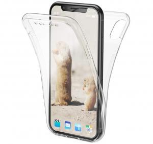 Husa Full TPU 360 fata + spate iPhone XR, Transparent