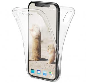Husa Full TPU 360 fata + spate iPhone XS Max, Transparent