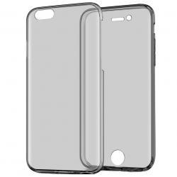 Husa Full TPU 360 (fata + spate) pentru Apple iPhone 6 / 6S, Gri Transparent