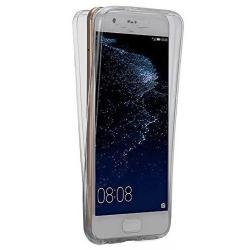 Husa Full TPU 360 (fata + spate) pentru Huawei P10, Gri Transparent