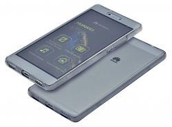 Husa Full TPU 360 (fata + spate) pentru Huawei P8, Gri Transparent