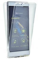 Husa Full TPU 360 (fata + spate) pentru Huawei P8, Transparent