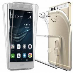 Husa Full TPU 360 (fata + spate) pentru Huawei P9 Plus, Transparent