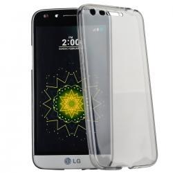 Husa Full TPU 360 (fata + spate) pentru LG G5, Gri Transparent