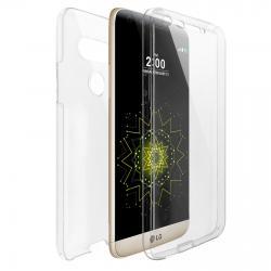 Husa Full TPU 360 (fata + spate) pentru LG G5, Transparent