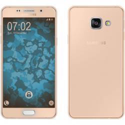 Husa Full TPU 360 (fata + spate) pentru Samsung Galaxy A3 (2016), Gold Transparent