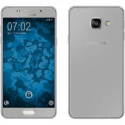 Husa Full TPU 360 (fata + spate) pentru Samsung Galaxy A3 (2016), Gri Transparent