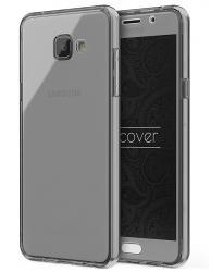 Husa Full TPU 360 (fata + spate) pentru Samsung Galaxy A5 (2016), Gri transparent