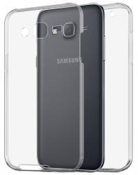 Husa Full TPU 360 (fata + spate) pentru Samsung Galaxy J5, Gri Transparent