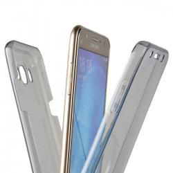 Husa Full TPU 360 (fata + spate) pentru Samsung Galaxy J7 (2016), Gri Transparent
