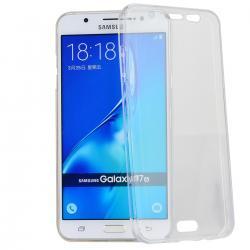 Husa Full TPU 360 (fata + spate) pentru Samsung Galaxy J7 (2016), Transparent