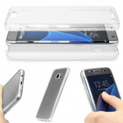 Husa Full TPU 360 (fata + spate) pentru Samsung Galaxy S7 Edge, Transparent