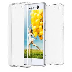 Husa Full TPU 360 (fata + spate) pentru Sony Xperia M5, Transparent