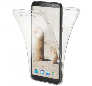 Husa Full TPU 360 fata + spate Samsung Galaxy A6+ (2018), Transparent